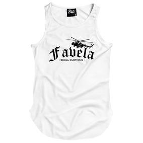 ab4e970ae2c17 Camiseta Regata Longline Favela Rj Skull Clothing Swag Top. 3 cores. R  49  90