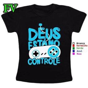 ace645a0b Camiseta Gospel Pense Luz  Deus Está No Controle Tamanho 4 ...