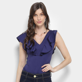 138f2b3da Blusa Babado Em V Body Feminino - Camisetas e Blusas no Mercado ...