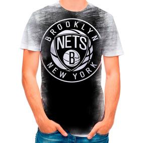 55cd8291f Camiseta Brooklyn Nets Branca - Camisetas no Mercado Livre Brasil