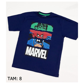 3b8bdb459 Mascaras Do Super Herois - Camisetas Manga Curta no Mercado Livre Brasil
