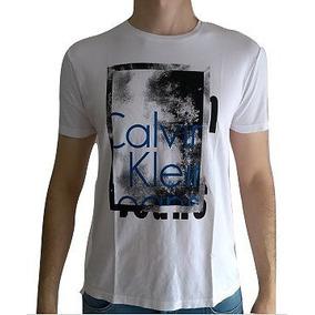 f0d3a9480dd72 Marrom Camiseta Calvin Klein Ck Branca C Arte Em Amarelo - Camisetas ...