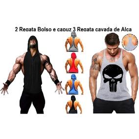 012402ef4a0ec Camiseta Regata Cavada Com Capuz - Camisetas no Mercado Livre Brasil
