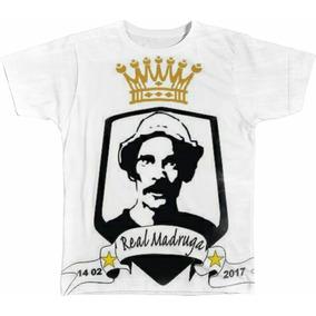 1b8761ccb9510 Camisa Camiseta Personalizada Real Madri Seu Madruga Futebol