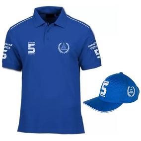 e4c8c6a1c00c0 Kit Camisa Polo Fórmula Retrô + Boné Brabham Nelson Piquet