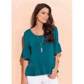 cb76f69f21 Blusa De Viscose Estampa Barrada - Camisetas e Blusas no Mercado ...