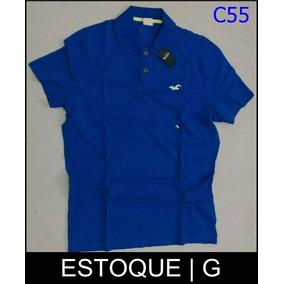 cb9d35a7500a5 Camisa Polo Social Hollister Original Importado Pronta Entre