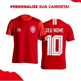 74b641366 Camisa Comunistas Vermelha Seleção Brasileira Pt