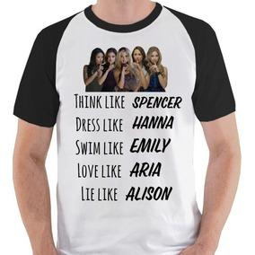 71e8855da84da Camiseta Pretty Little Liars Série Camisa Blusa Raglan