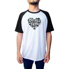 31d1cf875 Camiseta Raglan Love Games Gamer Jogos Controles Videogame