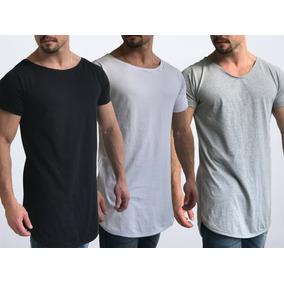 a769a0b155 Gola Canoa) Camiseta Oversized Masculina (preta - Camisetas Manga ...