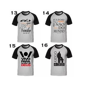 a0bee433d Camisetas Preta Feminina Frases Biblicas - Camisetas e Blusas no ...