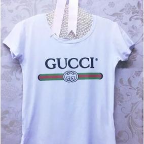 a4b7c25e2b08b Camiseta T-shirt Gucci Feminina Coleção Nova - Cor Branca !