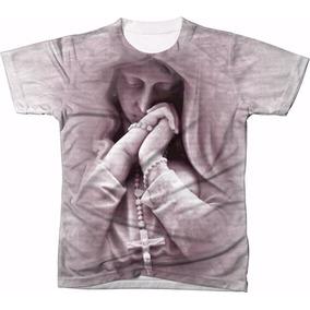 0f8f398a55882 Camisa Camiseta Personalizada Maria 3d Mãe De Jesus Virgem