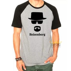 4e871f87e Camiseta Raglan Breaking Bad Heisenberg Serie Camisa Mod001