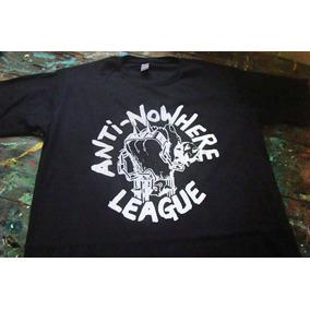 131e11acad837 Anti-nowhere Camiseta Punk Hardcore 80 League Silk Algodão