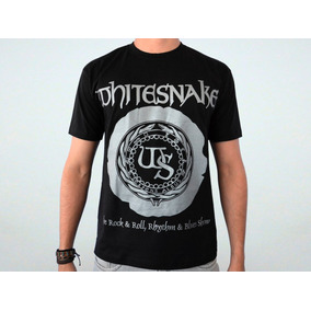 33514a414 Whitesnake - Logo Camisa Masculina Preta