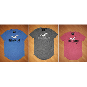 afef74f798781 Camiseta Hollister Masculina Original Eua Camisa