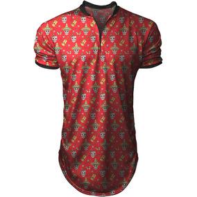 04edc3eb2 Camisa Blusa Camiseta Polo Longline Flor Praia Verao- Top