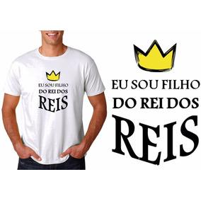 5b6496aaf Camiseta Gospel Qualidade Rei Dos Reis - Camisetas no Mercado Livre ...