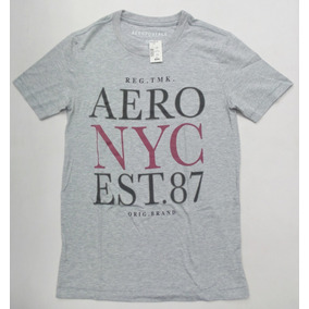 997272591ddcc Camiseta Masculino Aeropostale - Cinza Mescla Logo Relevo