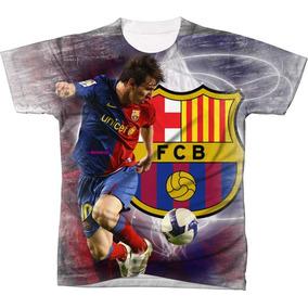 47e9b0b7ee652 Bola Personalizada Barcelona - Camisetas no Mercado Livre Brasil