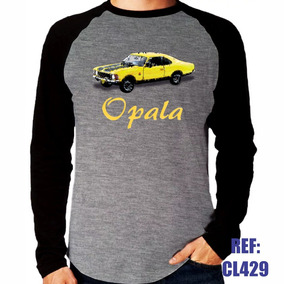 f0574e79b Camisa Raglan Manga Longa Opala Carro Antigo Auto Mescla