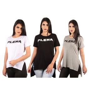 a7f4590b8 Camiseta Long Line Feminina - Camisetas Manga Curta para Feminino no ...