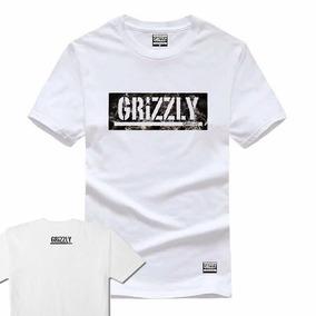 751712fd1 Camiseta Grizzly Red Vermelha Skate Diamond Palace +adesivo