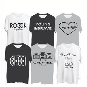 7b10a2effcedc 5 Blusas Femininas Estampadas Channel Vogue Gucci Fashion