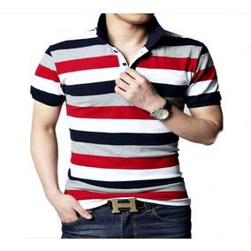 3aa5585e069fe Kit 5 Camisas Polo Listra Listrada Masculina Varias Cores