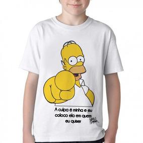 4d739a48a Camiseta Homer E Porco Aranha - Camisetas e Blusas no Mercado Livre ...