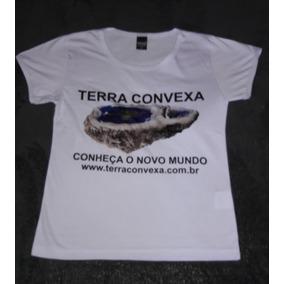 64657c8839 Camiseta Baby Look Terra Convexa Branca