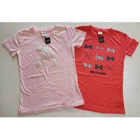 75ae7b8eac Etiqueta Camiseta Abercrombie Kids Feminina Pink Original C ...