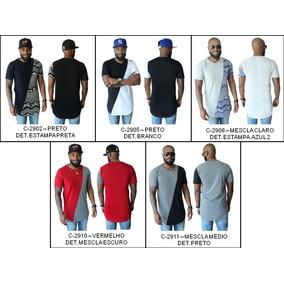 1f4b36f3b Camiseta Masculina Oversized Swag Longlin Tamanho G1 - Camisetas no ...