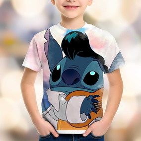 ae34afe7490e1 Camiseta Lilo E Stitch - Camisetas Manga Curta no Mercado Livre Brasil