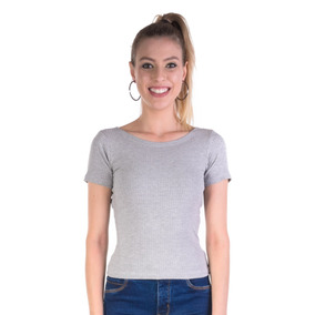 3a2136bdb7 Blusa Canelada - Blusas para Feminino no Mercado Livre Brasil