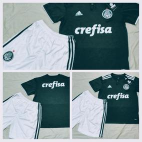 84a537eb256e3 Conjunto Barcelona Infantil Verde - Camisetas e Blusas no Mercado ...