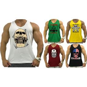 a7ccbefb8 5 Regata Cavada Masculina Camiseta Slim Tank Anatomic