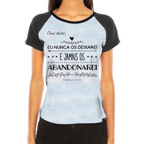 e34dafa02 Camiseta Gospel Feminina Versiculo - Camisetas Manga Curta para ...