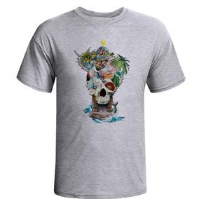 666d4bd29 Camiseta Caveira Praia Skull Caveira Camisa Skull Masculina