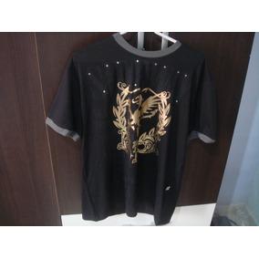 05b2a99a7 Camiseta Detalhe Dourado no Mercado Livre Brasil
