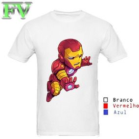 0262ea1d4 Camiseta Homem Ferro Infantil Tamanho 6 - Camisetas Manga Curta ...