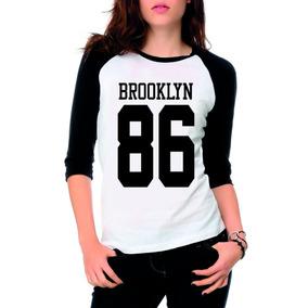 77cbe4d66 Camiseta Brooklyn 86 Feminina - Camisetas e Blusas no Mercado Livre ...