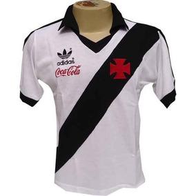 a1ed213ee3839 Camisa Retrô Vasco Da Gama 1987 Coca Cola Blusa Branca