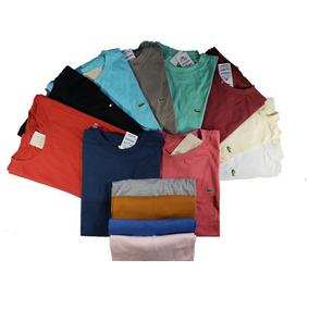 47c6e8b6eab71 Kit 10 Camiseta Gola Careca Plus Size Barato G1 G2 G3 G4