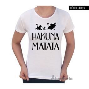 32cdd9eb582d2 Baby Look Rei Leão Timão Pumba Simba Hakuna Matata