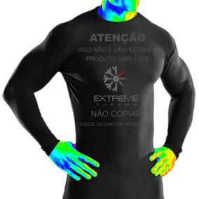 2ce9d66d69 Camisa Térmica Segunda Pele Rash Guard Extreme Frio Calor