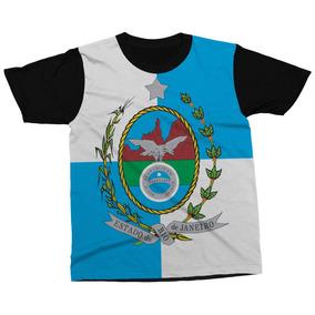 6e7ccd5f9 Camiseta Rio De Janeiro Estado Brasil Bandeira Blusa Camisa