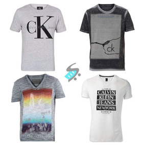 eca218da3f7 Kit 5 Camiseta Camisa Masculina Estampada De Marca Revenda